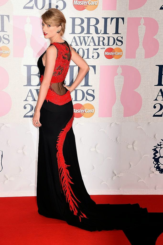 Singer-Songwriter, Actress, Fashion Model: Taylor Swift - BRIT Awards 2015 in London
