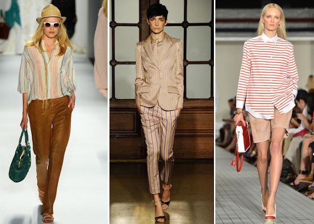 Tendências de moda verão 2013 - Roupa listrada - Fotos e modelos