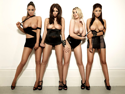 "Holly Peers And Friends ""Rude & Naughty"" Photos For Nuts"