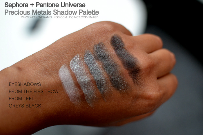 Sephora Pantone Universe Precious Metals Eyeshadow Palette Swatches Indian Darker Skin Makeup Beauty Blog
