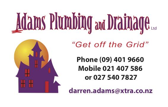 Darren Adams, Adams Plumbing and Drainage Kerikeri, Northland.  Plumber Kerikeri