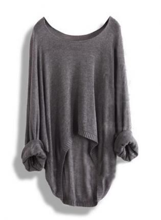 Gorgeous fall grey oversized sweater fashion