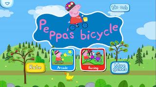 Peppa Pig bicycle App Gameplay