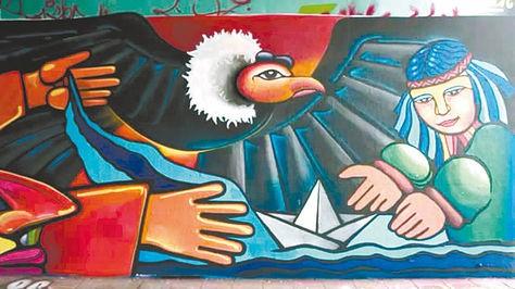 Chilenos apoyan a Bolivia en La Haya