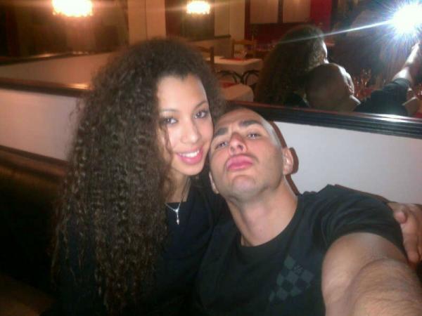 Karim Benzema With His Girlfriend Sarah Williams 2013