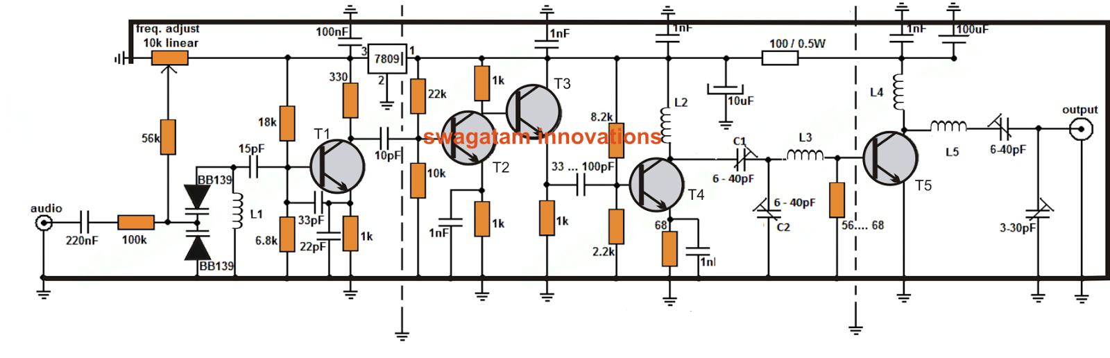 Long Range Transmitter Circuit 2 To 5 Km Range