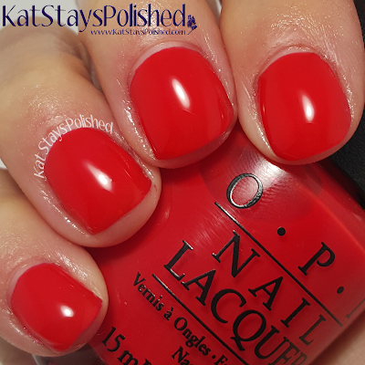 OPI Brights - I STOP for Red | Kat Stays Polished