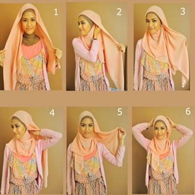 Tutorial Hijab Paris Segi Empat Praktis