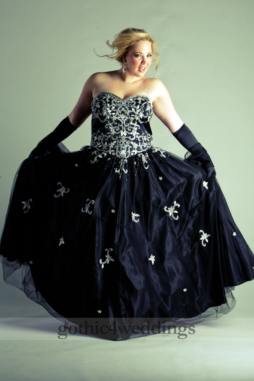 Plus Size Goth Prom Dresses 106