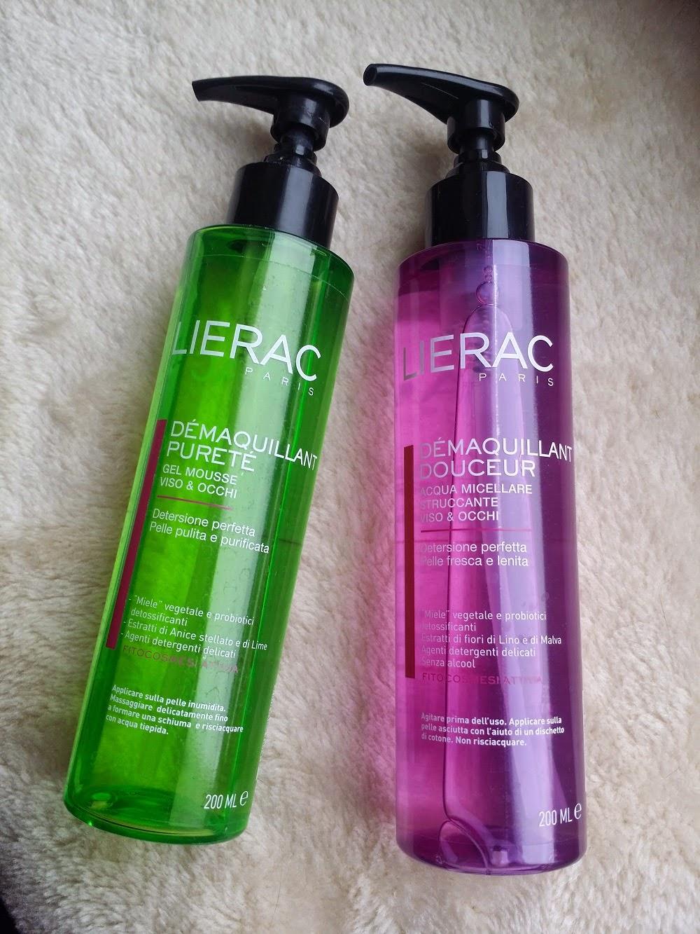Gesichtsreinigung von Lierac, Reinigungsprodukte, Reinigungsgel, Mizellenwasser, Waschroutine