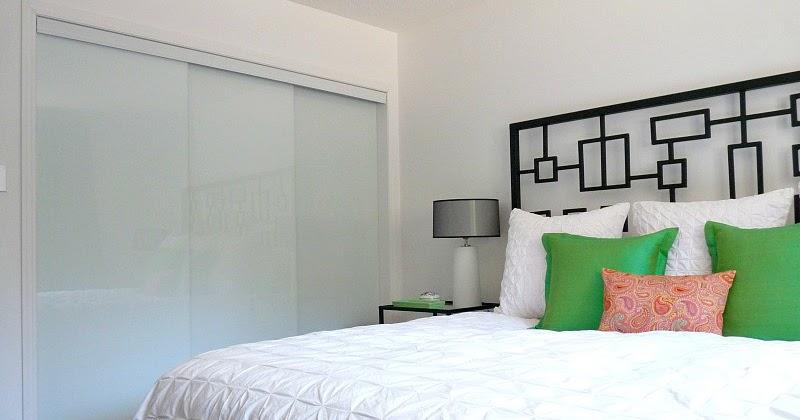 New White Glass Sliding Closet Doors In The Bedroom! | Dans Le Lakehouse