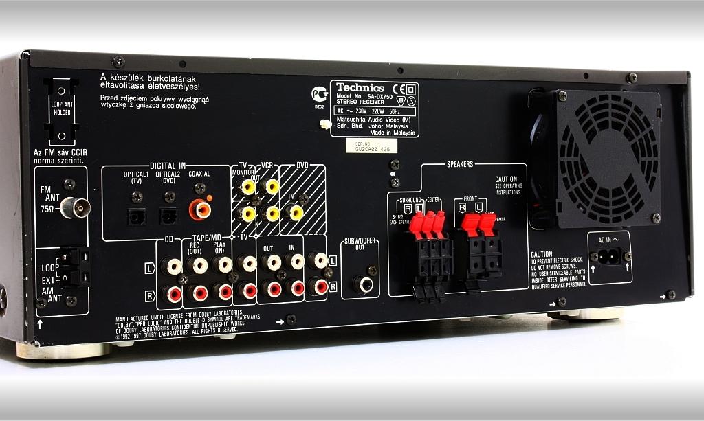 Technics Sa Dx750 Av Receiver Audiobaza