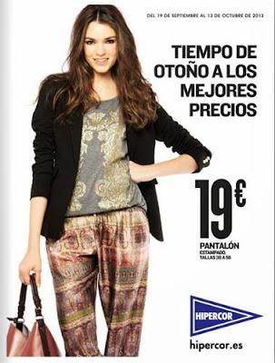 hipercor catalogo moda otoño 2013