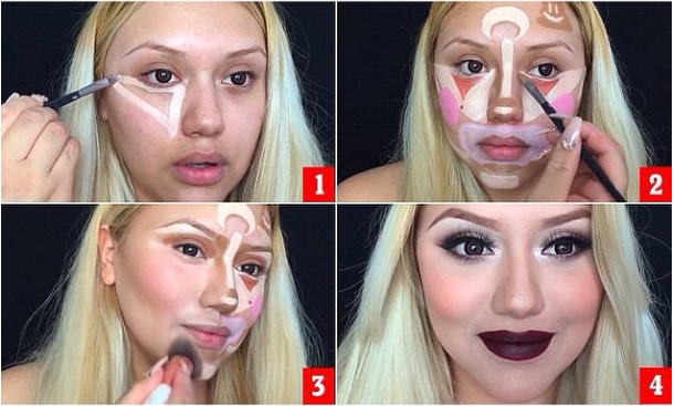 Clown Contouring Makeup