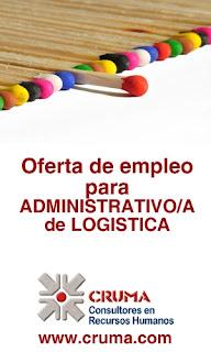 Oferta de EMPLEO para ADMINISTRATIVO/A en LOGISTICA