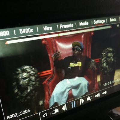 juici j lil wayne y 2 chainz grabando el video de bandz a make her dance