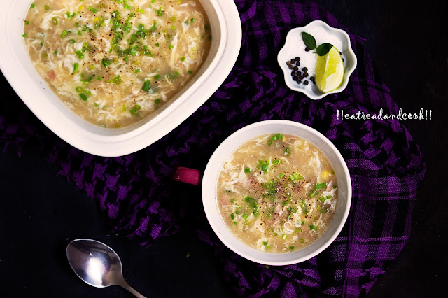 how to make chicken sweetcorn egg drop soup recipe