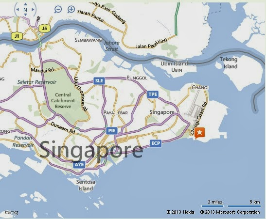 Tanah Merah Ferry Terminal Singapore Location Map Alexandra Meier