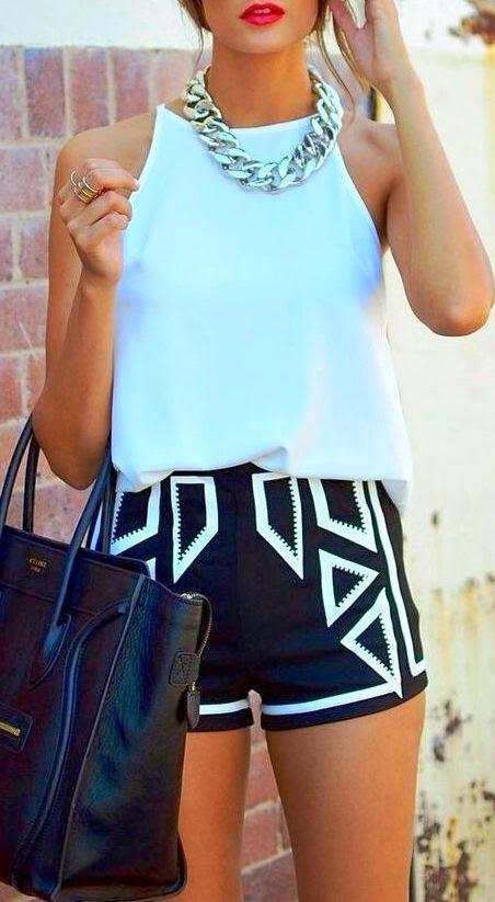 Black + white + hand bag
