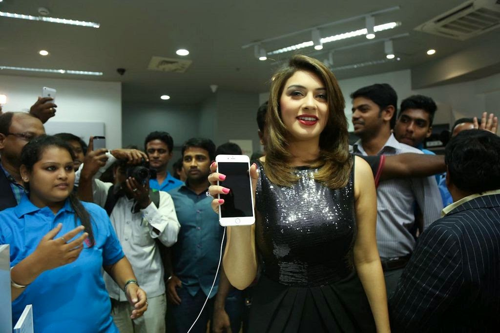 Actress Hansika Motwani Latest Pictures in Black Dress at iphone 6 Launch  21.jpg