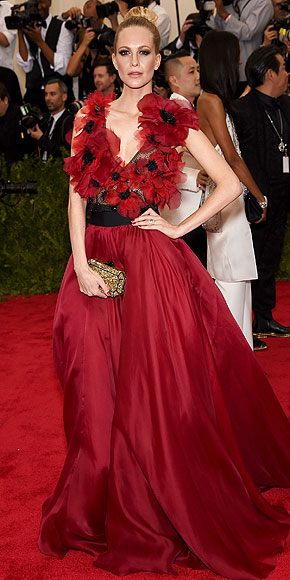 Poppy Delevigne, Met Gala 2015, Marchesa, red carpet
