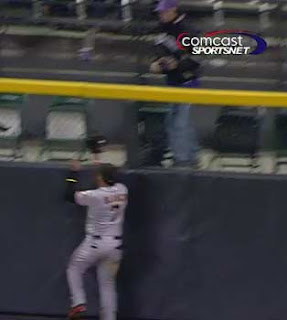 Gregor Blanco catches the ball. I don't.