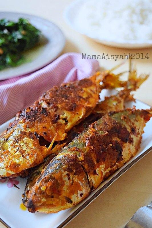 Dapur mama aisyah ikan bakar panggang pedas dengan for Pan grilled fish