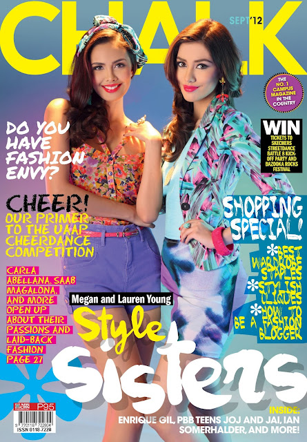 Megan and Lauren Young Cover Chalk Magazine September 2012