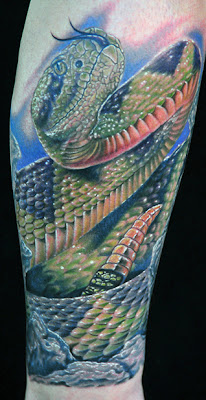 3D Snakes Tattoo on Calves