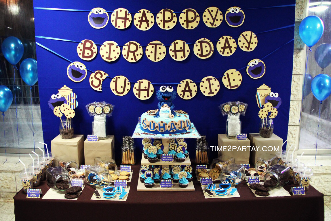 Cookie Monster Themed 1st Birthday Time2Partaycom