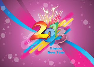Happy New Year 2013 abstract wallpaper