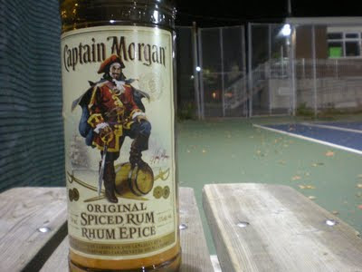 Captain Morgan, Original Spiced Rum, pose, keg, sabre, pirate