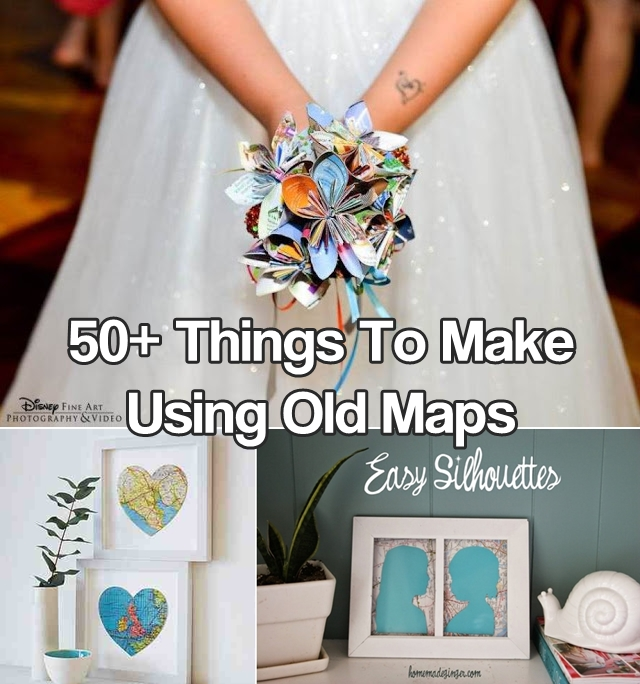 50+ DIY Projects Using Old Maps