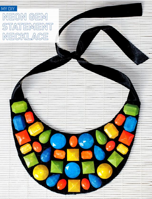 diy neon statement necklace - photo #8