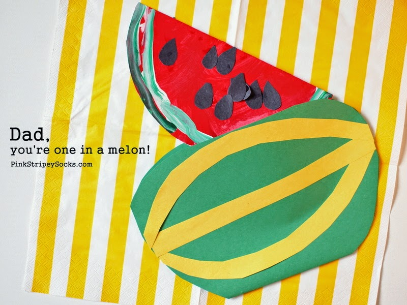 """one in a melon"" watermelon father's day card"