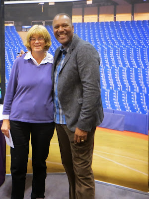 My Mom with Toronto Blue Jay Baseball legend Joe Carter at The National Women's Show in Toronto