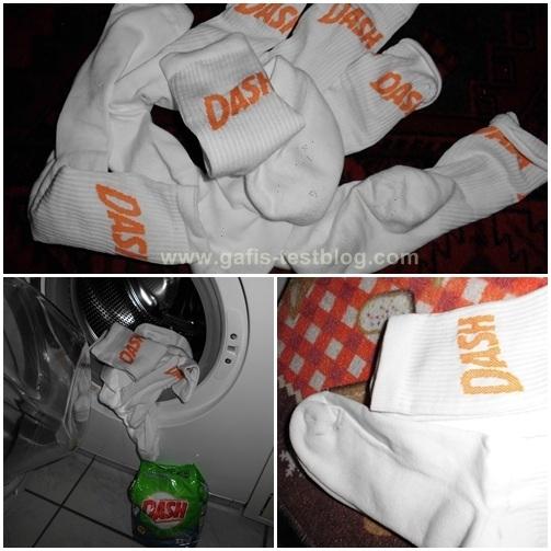 Dash-Socken Waschen