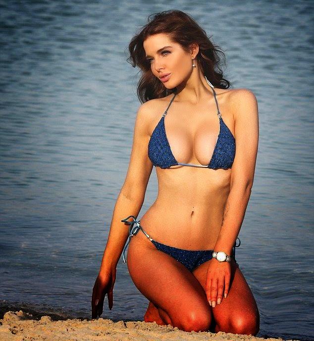 Helen Flanagan shakes a Blue Bikini as she poses up a storm for camera in Dubai