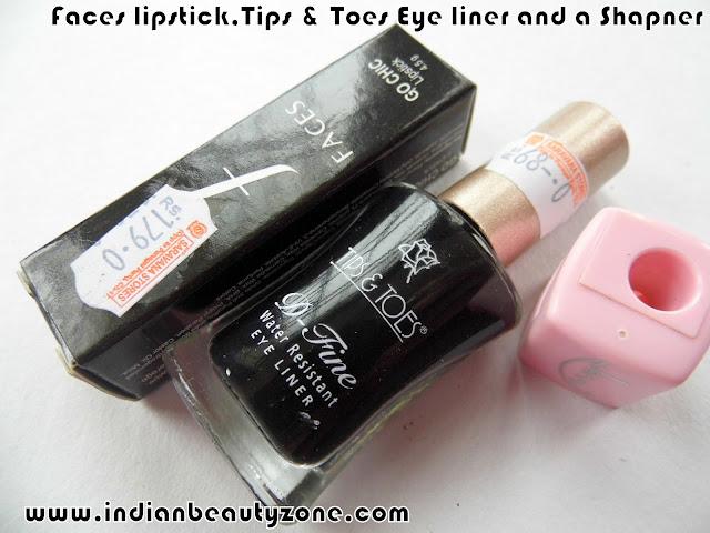 Lipsticks and eyeliners