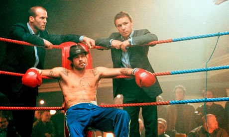 Jason Statham, Brad Pitt and Stephen Graham in Snatch