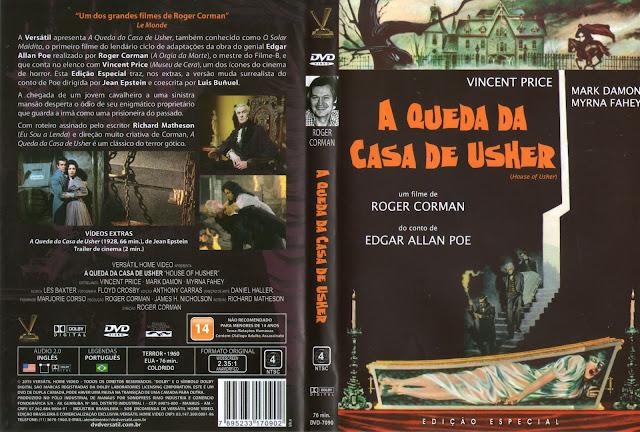 Capa DVD A Queda Da Casa De Usher