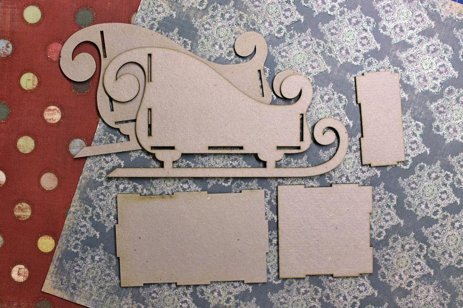 Дед мороз и сани иПластиковые панели для