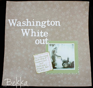Stampin' Up! Scrapbook Page