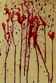 Blood stain on paper.