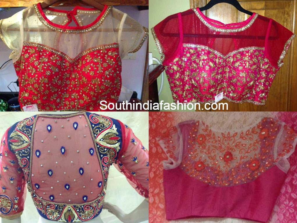 Trendy Net Blouse Designs South India Fashion
