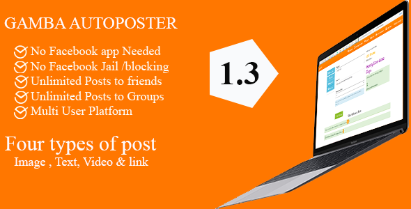 Gamba Facebook Friends and Groups Autoposter v1.3.1