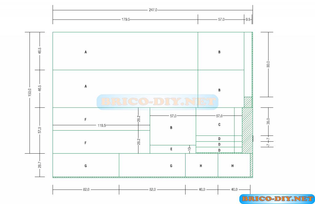 Proyecto bricolaje muebles closets de melamina web del - Planos de muebles de cocina ...