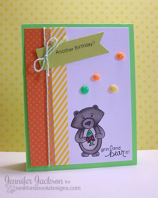 Winston's Birthday | Bear Birthday Card | Newton's Nook Designs