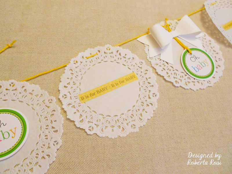 SRM Stickers Blog - Baby Shower Favors by Roberta - #clear bags, #favors #stickers #twine #doilies
