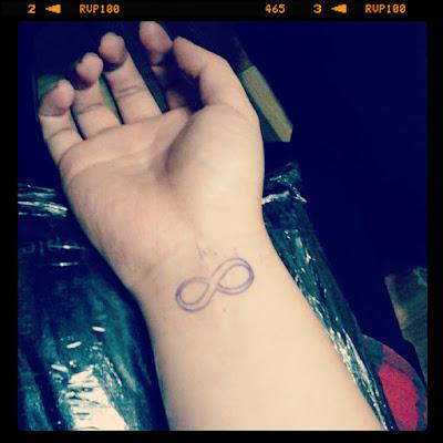 wrist infinity tattoo